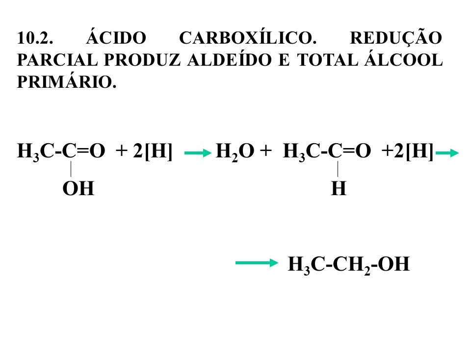 H3C-C=O + 2[H] H2O + H3C-C=O +2[H]